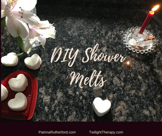 DIY Shower Melts Using Lemonrass & Ravensara Oils.