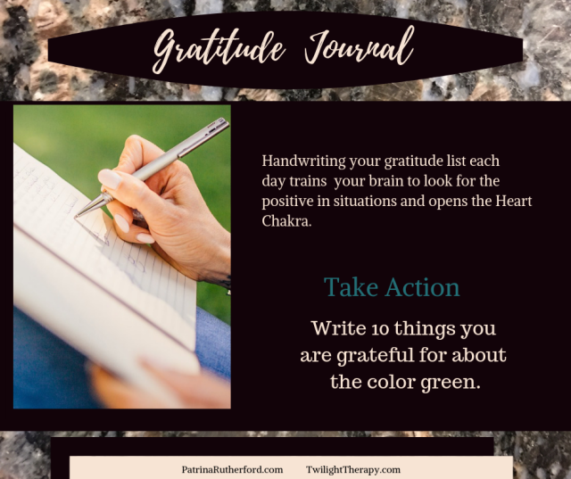 Handwriting in your gratitude journal daily will teach your brain to look for the positive, happy things in your life. The brain will begin to form solutions instead of complaints.